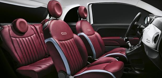 Fiat 500 Cabrio innenraum auto Kreta